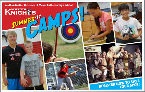 mayer lutheran youth knights summer camps