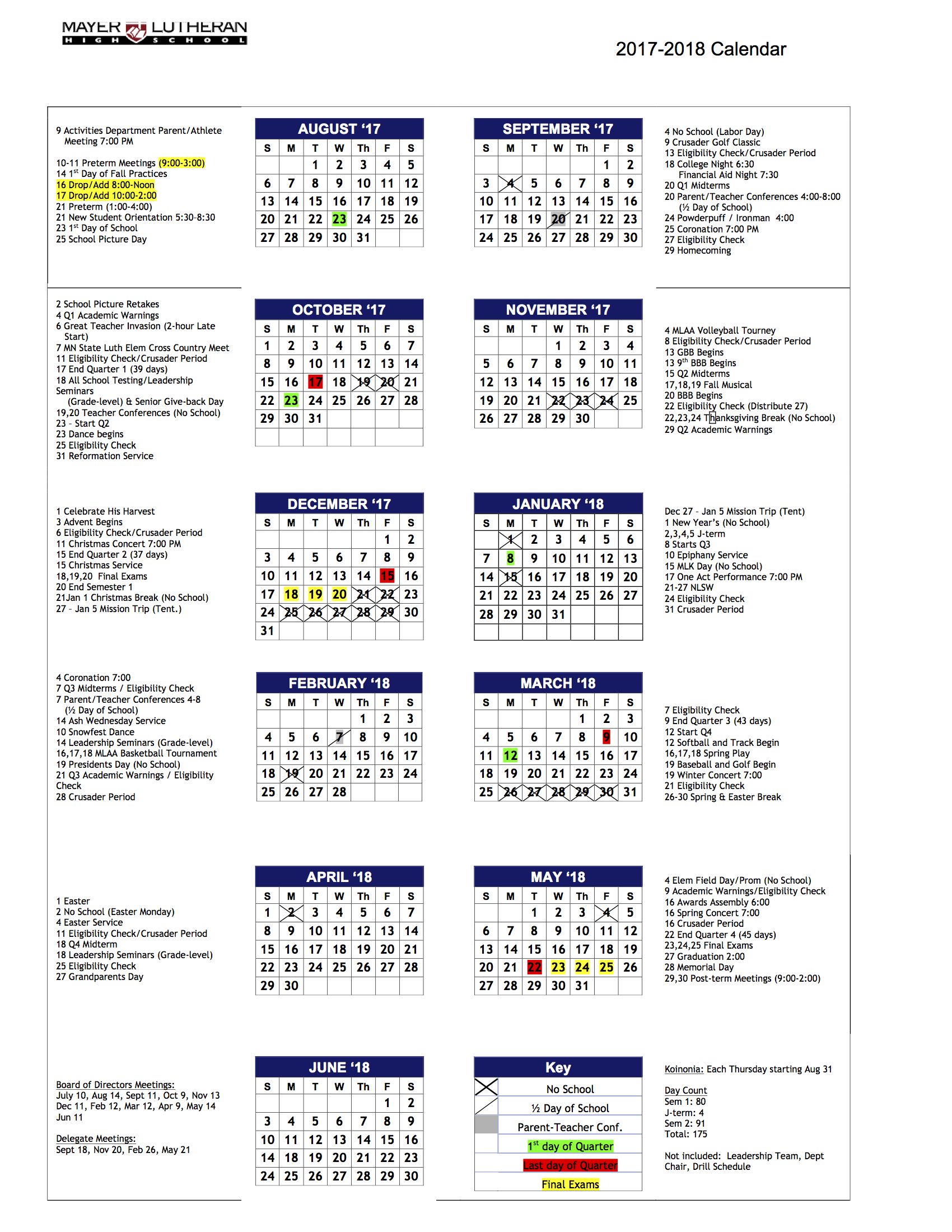 academiccalendar2017 18 - When Does School Start After Christmas Break