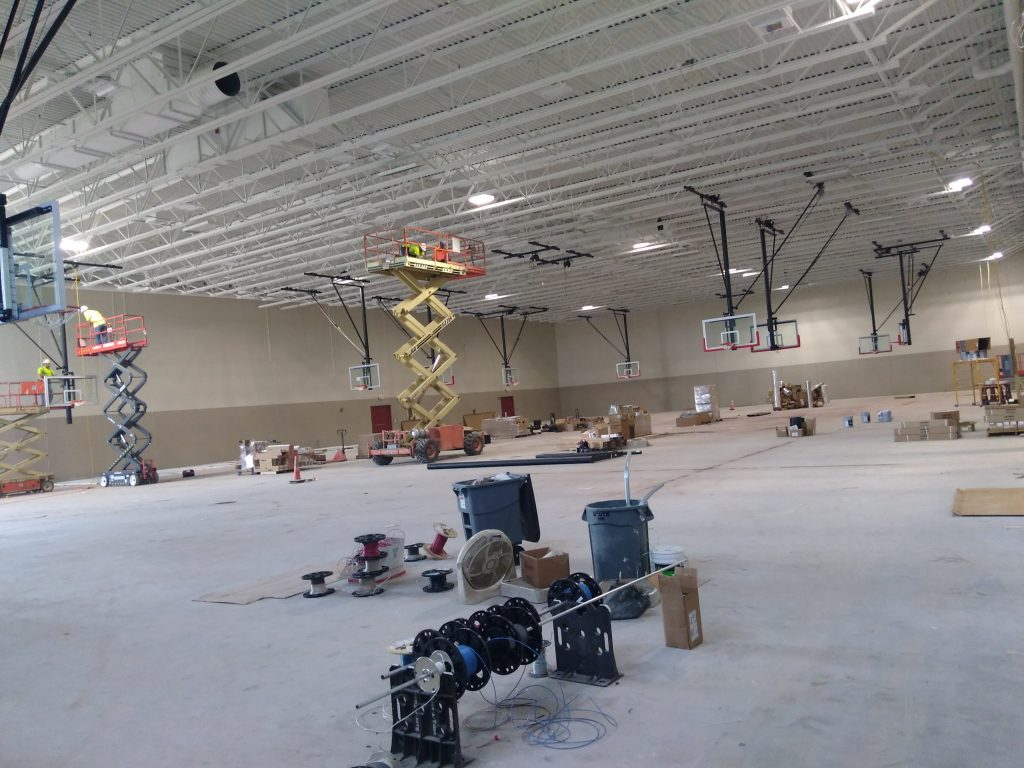 MLHS Field House Hoops Are Up!